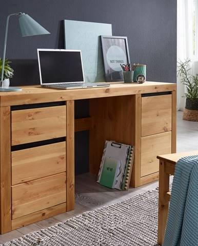 ALBURY Písací stôl 155x49 cm, borovica, prírodná