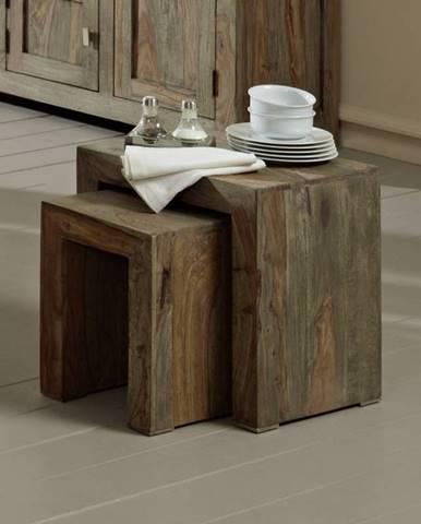 GREY WOOD Príručný stolík 45x35 cm, palisander