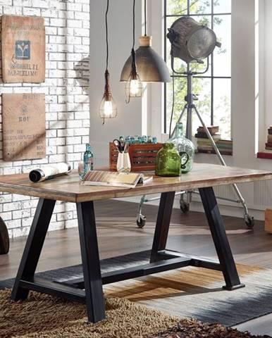 INDUSTRY Jedálenský stôl 140x90 cm, staré drevo