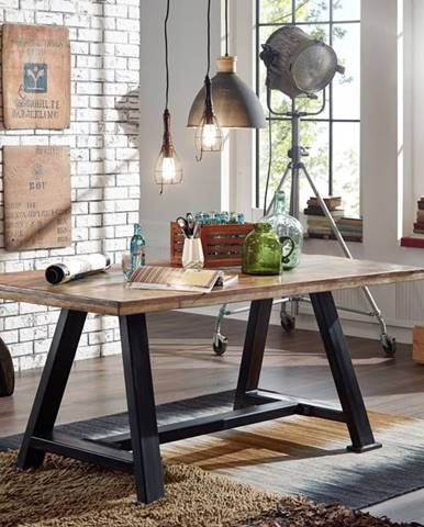 INDUSTRY Jedálenský stôl 160x90 cm, staré drevo