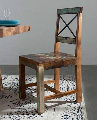 OLDTIME Stolička, lakovaný indický palisander
