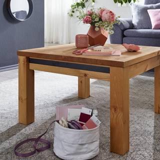 ALBURY Konferenčný stolík 70x70 cm, borovica, prírodná