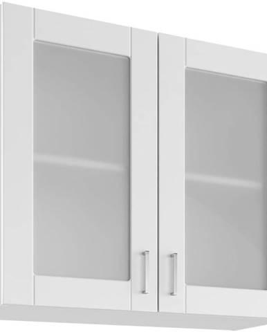 Skrinka do kuchyne Milano Bianco Super Mat UOW 80/2