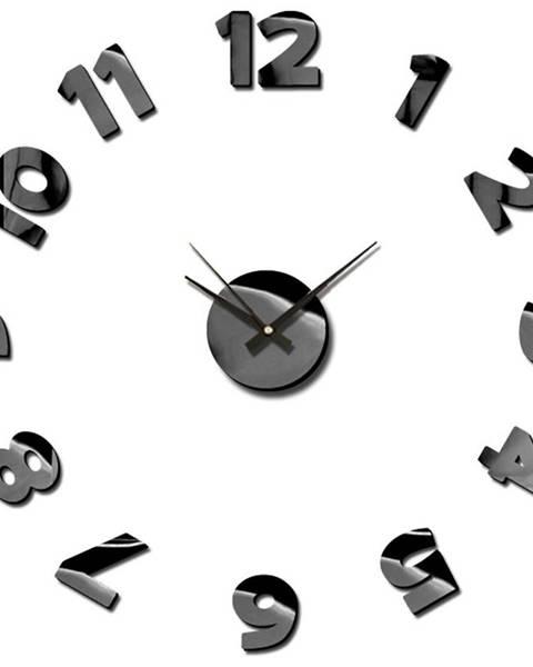 MERKURY MARKET Nástenné hodiny sticker blink 75cm čierna