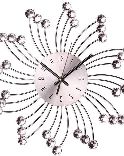 MERKURY MARKET Nástenné hodiny sun o 34 cm strieborne