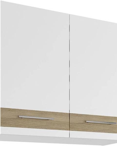MERKURY MARKET Skrinka do kuchyne Luna Lignum Bianco Super Mat UO 80/2