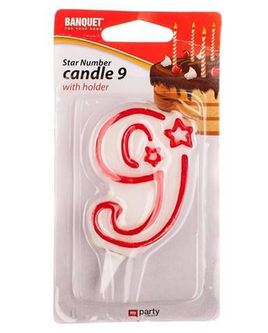 Narodeninová sviečka nr 9