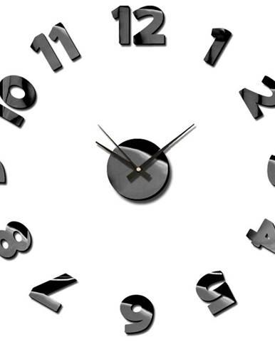 Nástenné hodiny sticker blink 75cm čierna