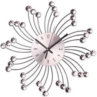 Nástenné hodiny sun o 34 cm strieborne