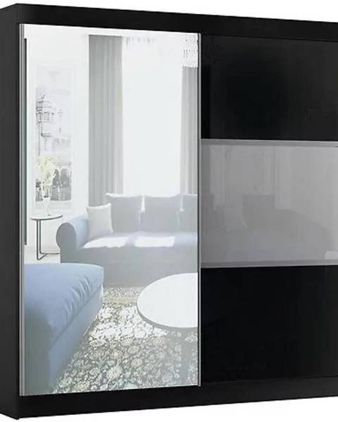 MERKURY MARKET Skriňa Rumba 200 cm + zrkadlo