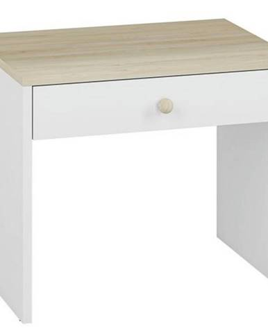 Konferenčný stolík Elmo biely /buk fjord