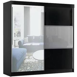 Skriňa Rumba 200 cm + zrkadlo