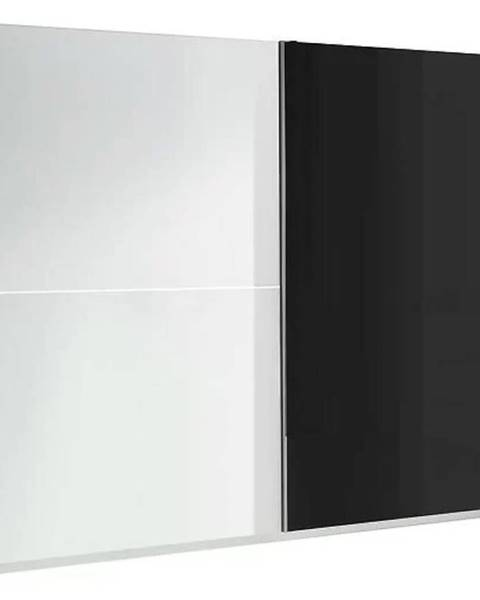 MERKURY MARKET Skriňa Lux 2 244 cm  bielo/čierna lesklá