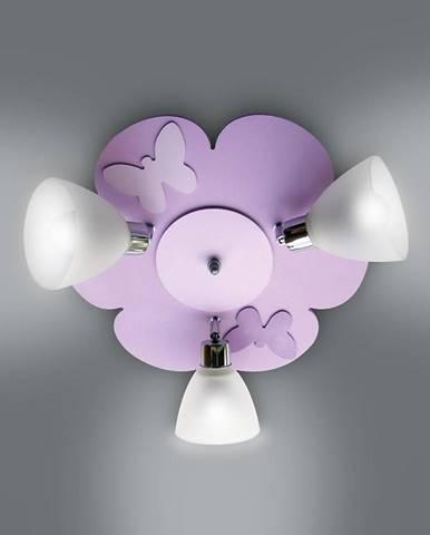 Lampa kvet K3Z21 fialová PL3