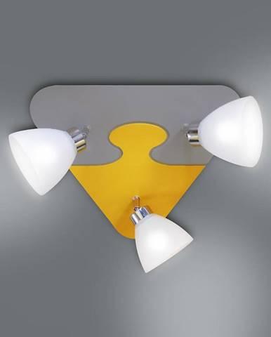 Lampa puzzle K3P-8 žltá/šedá PL3
