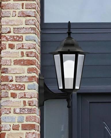 Nastenná záhradná lampa Liguria ALU 1047IB -black KG1