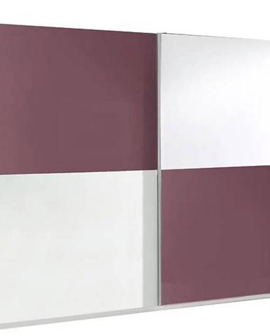 Skriňa Lux 10 244 cm fialová  lesklá/biela  lesklá