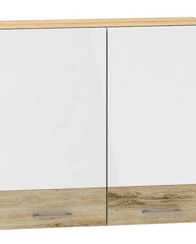 Skrinka do kuchyne Mocca W80 biely lesk
