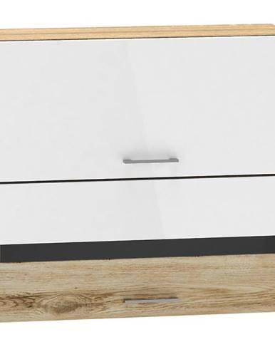 Skrinka do kuchyne Mocca W80 GRF/2 SP biely lesk