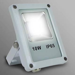Biely LED reflektor 10W IP65 800LM 4000K EK700