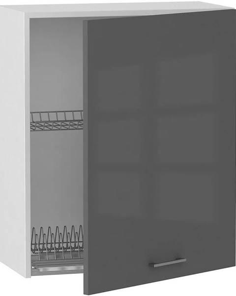 MERKURY MARKET Skrinka do kuchyne Alvico W60 SU P/L antracita BB