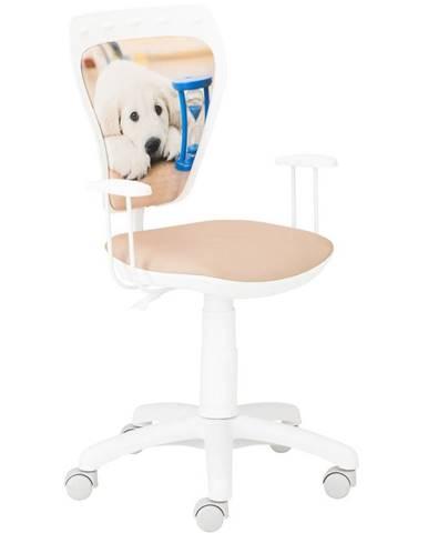 Kancelárska stolička Ministyle White Labrador Klepsydra