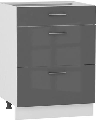 Skrinka do kuchyne Alvico D60 S/3 antracita BB