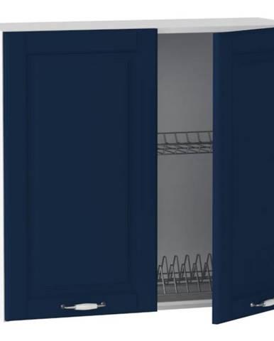 Kuchynská skrinka Moniuszko W80 SU ALU námornícka modrá mat BB