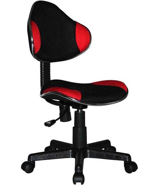 MERKURY MARKET Kancelárske kreslo CX 4113R červená/čierna