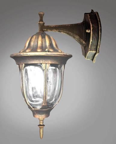 Nastenná záhradná lampa Florencia ALU3118DP patina KD1
