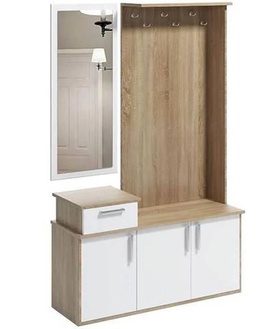 Predsieňový nábytok Gerber dub sonoma/biela