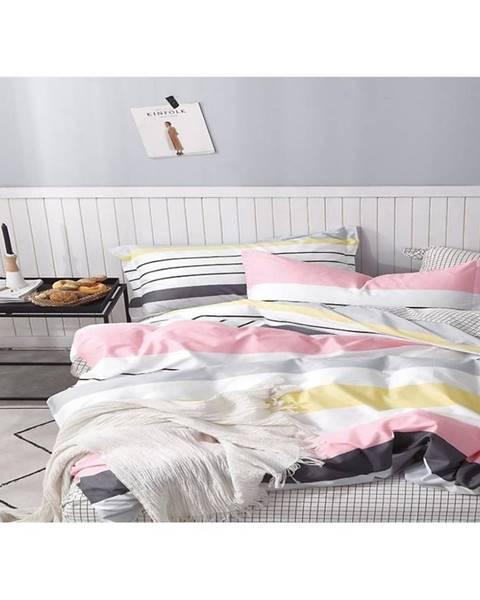 MERKURY MARKET Bavlnená saténová posteľná bielizeň albs-01017b/2 140x200 lasher
