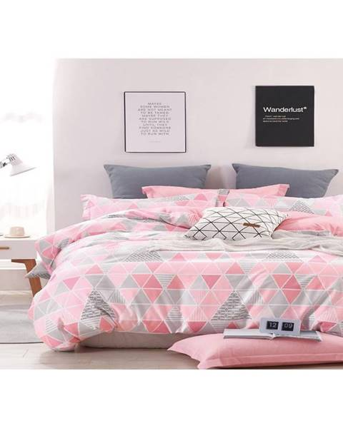 MERKURY MARKET Bavlnená saténová posteľná bielizeň albs-01023b/2 140x200 lasher