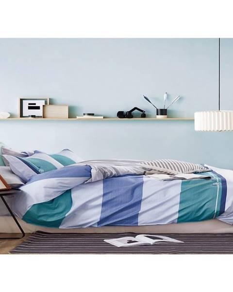 MERKURY MARKET Bavlnená saténová posteľná bielizeň albs-0994b/2 140x200 lasher