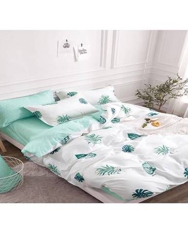 Bavlnená saténová posteľná bielizeň albs-01000b/2 140x200 lasher