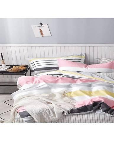 Bavlnená saténová posteľná bielizeň albs-01017b/2 140x200 lasher