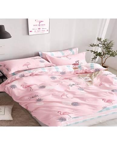 Bavlnená saténová posteľná bielizeň albs-01019b/2 140x200 lasher