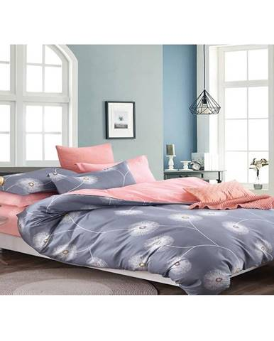 Bavlnená saténová posteľná bielizeň albs-01032b/2 140x200 lasher
