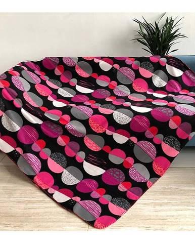 Deka CL 1804007 170x220 čierna-ružová