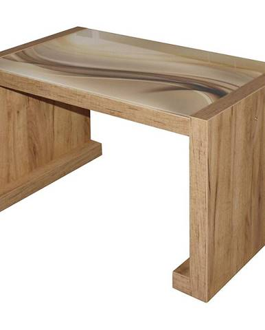 Konferencny stolik  Arsinoe dub wotan/sklo model