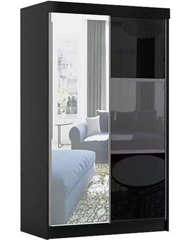 Skriňa Rumba 120 cm + zrkadlo