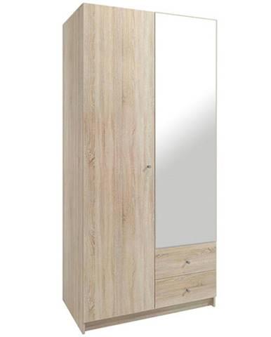 Skriňa Taro 3 100 cm dub sonoma