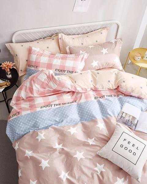 MERKURY MARKET Bavlnená saténová posteľná bielizeň albs-0916b/2 140x200 lasher