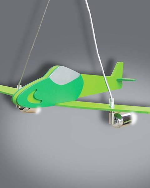 MERKURY MARKET Lampa lietadlo zelená L2-30 LW2