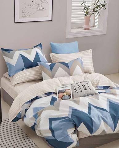 Bavlnená saténová posteľná bielizeň ALBS-01225B 140X200