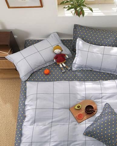 Bavlnená saténová posteľná bielizeň ALBS-01228B 160X200