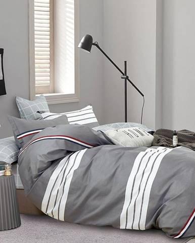 Bavlnená saténová posteľná bielizeň ALBS-01229B 140X200