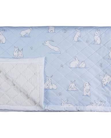 Prehoz králiky 0411-001-70 140x200 modrý