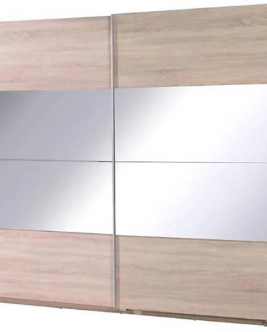 Skriňa  Twister 2 225 cm dub sonoma/zrkadlo