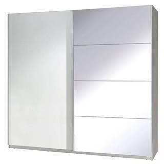 Skriňa  Twister 3 225 cm biela/zrkadlo